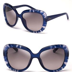 Dior Women Blue Tie Dye Sunglasses Christian Dior